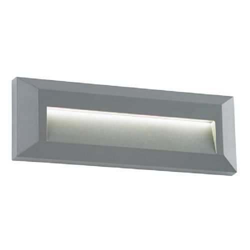 3W LED SURFACE MOUNTED BRICKLIGHT - RECTANGLE LOUVERED LANDSCAPE BXEL-40104-17 (Double Insulated)